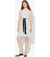 proenza schouler crepe cut out tie dress off white/grey 6