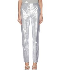 metallic lamé pants