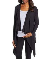 women's angel maternity maternity/nursing cardigan, tank & pants set, size xx-large - black