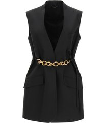 givenchy sleeveless jacket with chain
