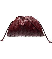 bottega veneta the mini pouch intrecciato bag - red