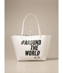 armani collezioni armani exchange shoulder bag armani exchange reversible shoulder bag in synthetic textured leather
