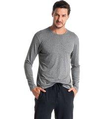 camiseta masculina manga longa fred