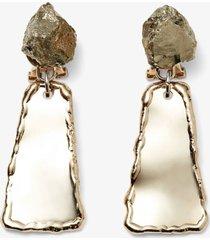 proenza schouler small hammered dangle earrings light gold/pirite/metallic one size