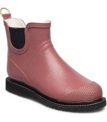 rain boot short regnstövlar skor röd ilse jacobsen
