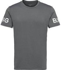 tee borg borg t-shirts short-sleeved grå björn borg