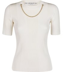 givenchy white viscose blend top