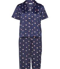 woven set ss print, pyjamas blå tommy hilfiger