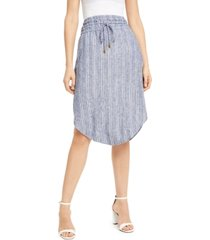 inc striped pull-on midi skirt, created for macy's
