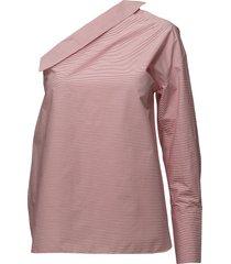 cali top blus långärmad rosa designers, remix