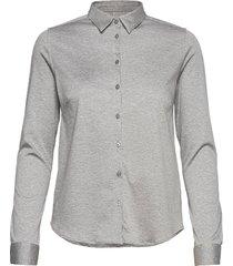 tina jersey shirt overhemd met lange mouwen grijs mos mosh