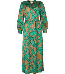 maxi-jurk met monogram print magnify  groen