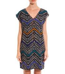 korte jurk davis robe savane bleu
