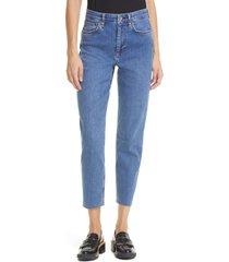 rag & bone nina high waist ankle cigarette jeans, size 27 in rye harbor at nordstrom