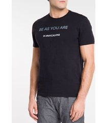 camiseta masculina be as you are preta calvin klein jeans - p