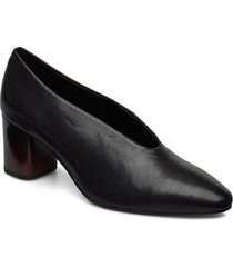 eve shoes heels pumps classic svart vagabond