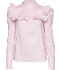 vivica blus långärmad rosa custommade