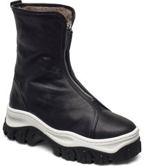 mio shoes boots ankle boots ankle boot - flat svart nude of scandinavia