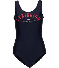 lisa swimsuit badpak badkleding blauw lexington clothing