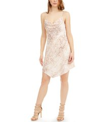guess lucy snake-embossed mini dress