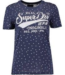 t-shirt dot donkerblauw