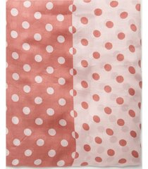 motivi sciarpa bicolor fantasia a pois donna rosa