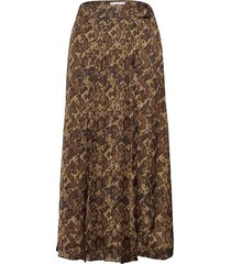 miss lång kjol brun mango