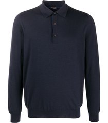 kiton relaxed polo sweater - blue