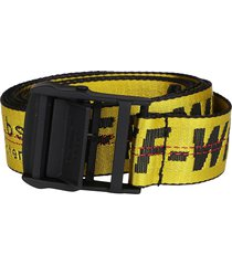 off-white yellow canvas industrial belt