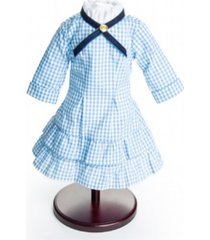 the queen's treasures little house on the prairie authentic laura and mary ingalls check dress