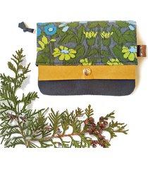portfel boho mini - łąka z upcyklingu