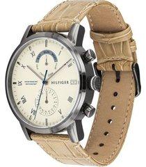 reloj tommy hilfiger 1710399 beige -superbrands