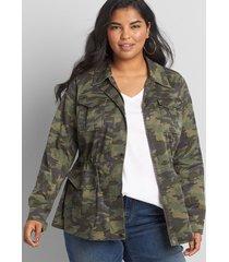 lane bryant women's utility jacket 26 dusty camo
