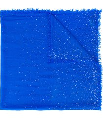 faliero sarti short sequinned scarf - blue