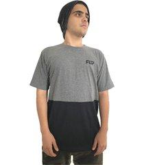 camiseta flip skateboards double tube cinza e preta - cinza - masculino - algodã£o - dafiti