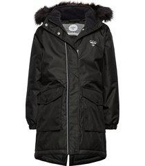 hmllise coat parka-jas zwart hummel