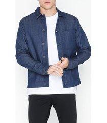 selected homme slhchris 6153 clear blue raw jacket jackor ljus blå