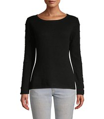 faux-pearl embellished cashmere sweater