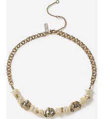 *pearl chipping necklace - cream