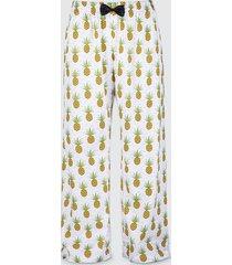 spodnie bawełniane do spania piżama ananasy