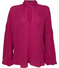 camisa rosa chá lordy 1 seda rosa feminina (magenta haze, gg)