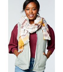 maurices womens green reversible sherpa zip up vest