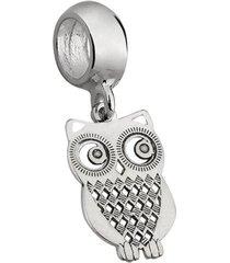 berloque joia em casa coruja pendurada prata