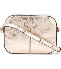 tod's thin strap shoulder bag - gold