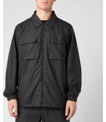 rains men's ultralight zip shirt - black - l/xl