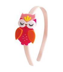 tiara coruja acrílico coruja lilies & roses ny colorida