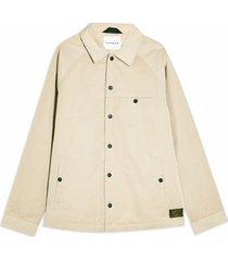 mens beige stone coach jacket