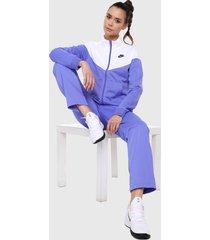 sudadera azul-blanco nike sportswear tracksuit