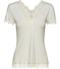 t-shirt ss blouses short-sleeved creme rosemunde