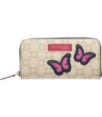 billetera marcia beige fucsia graffiti